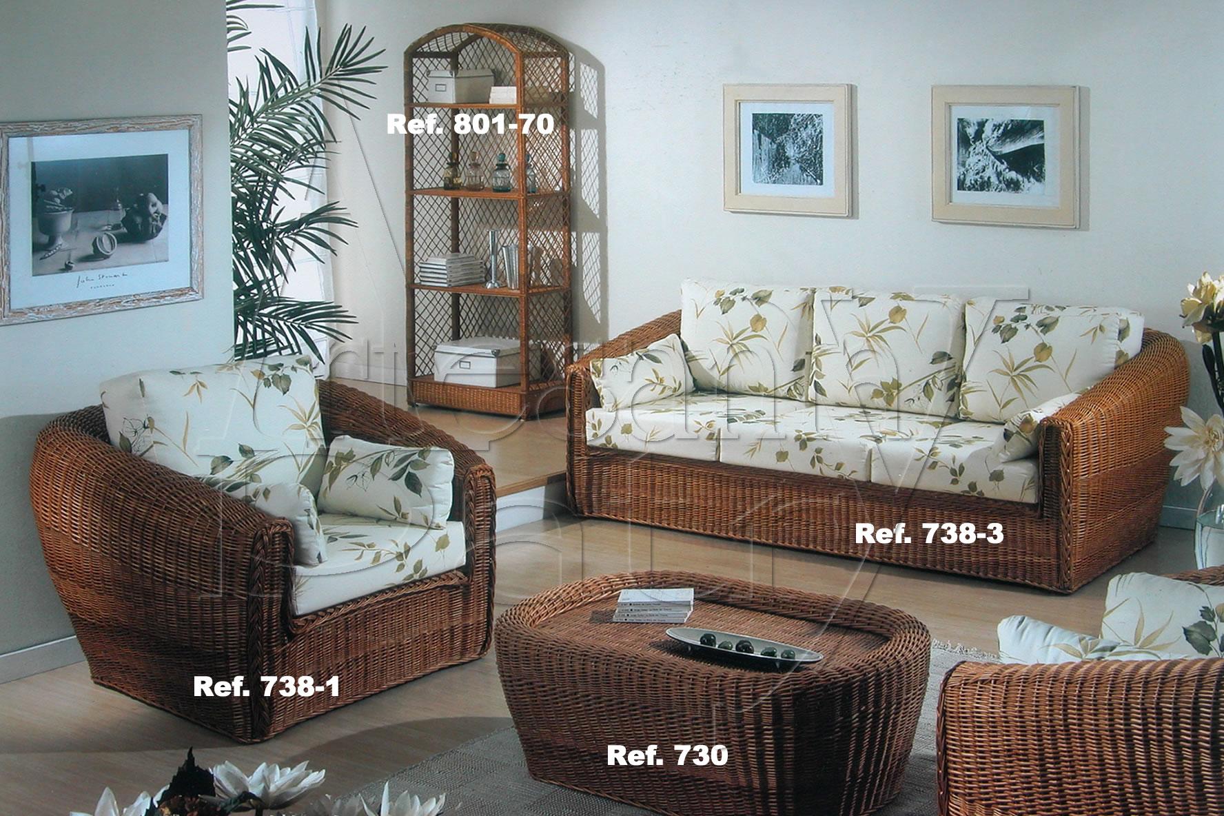 Fantástico Muebles De Mimbre Conjunto De Salón Inspiración - Muebles ...