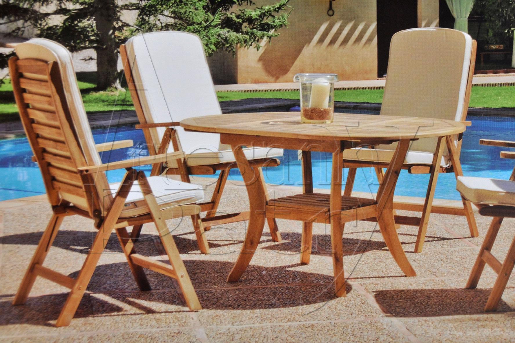 Muebles de exterior madera - mimbre - junco